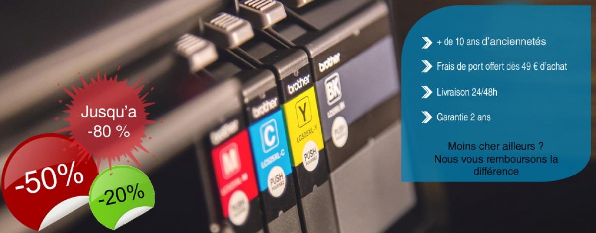 Spécialiste des cartouches d'imprimantes neuves à la marque et au compatible